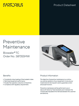 Biosealer® TC: Preventive Maintenance  - Sartorius Croatia
