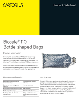 Biosafe® 110 Bottle-shaped Bags  - Sartorius Croatia