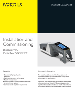 Biosealer® TC: Installation and Commissioning  - Sartorius Croatia