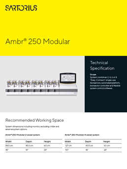 Ambr® 250 Modular: Technical Specification - Sartorius Croatia