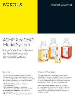 4Cell® XtraCHO Media System Large Scale: Media System for Protein Production Using CHO Systems - Sartorius Croatia