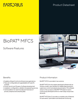 BioPAT® MFCS: Software Features - Sartorius Croatia